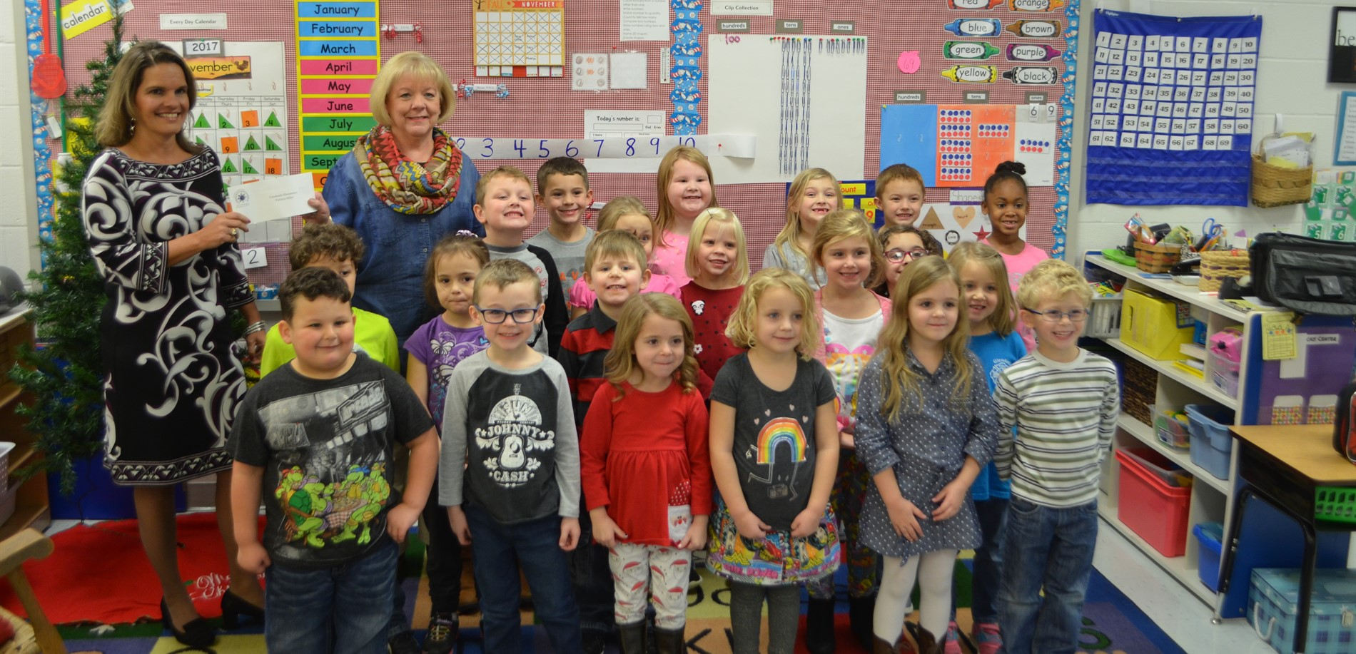 The Hardin County Education Foundation award four partnership grants recently -- This one to Mrs. Milby at Creekside Elementary School.