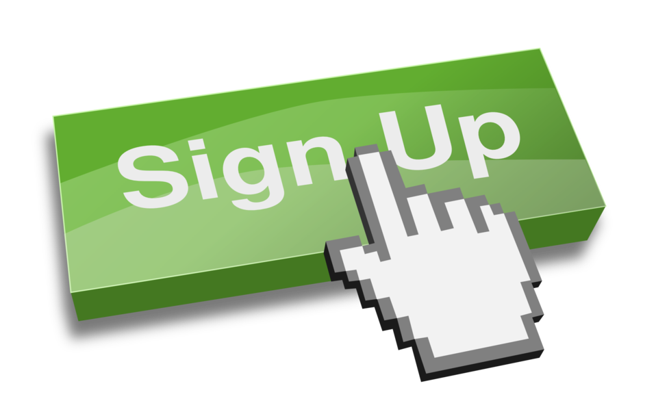 Sign-up clipart