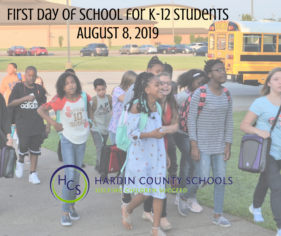 FIRST DAY OF SCHOOL 2019-20