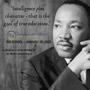 NO SCHOOL - DR. MARTIN LUTHER KING JR. BIRTHDAY (NATIONAL DAY OF SERVICE) linked image