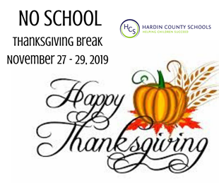 NO SCHOOL - THANKSGIVING BREAK linked image