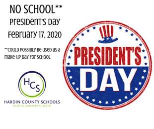 NO SCHOOL - PRESIDENT'S DAY - COULD BE USED AS MAKE UP DAY linked image