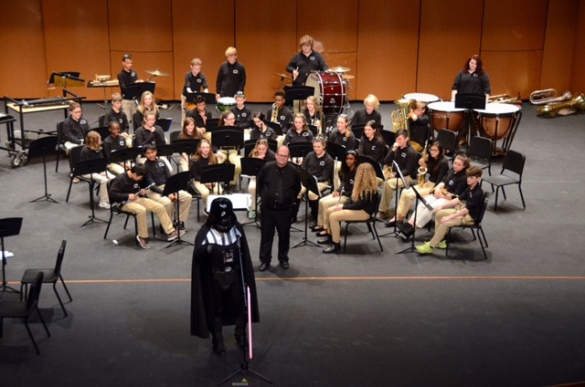 Darth Vader Showed Up at the Band Concert!