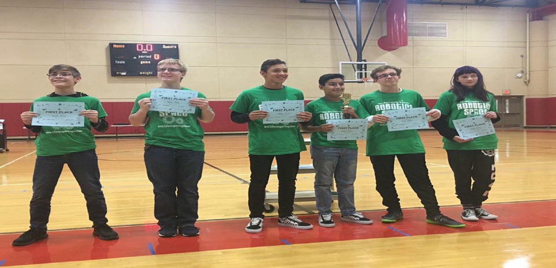 Robotics Team wins 1st Place