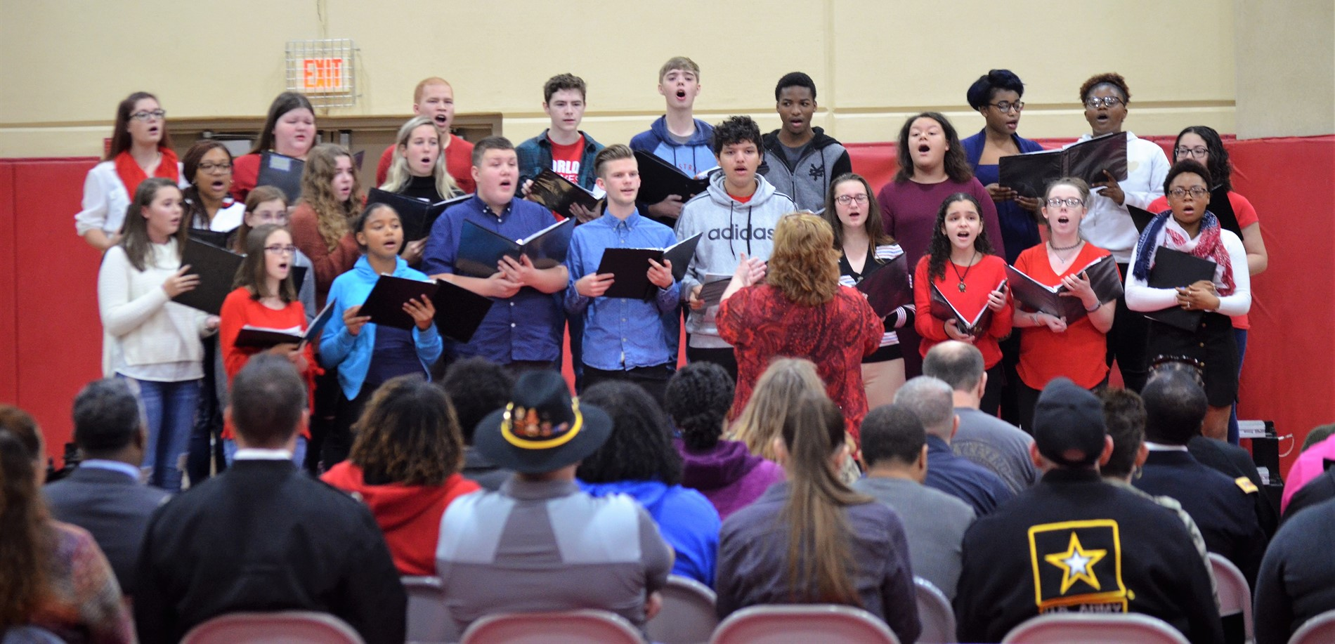 John Hardin High School Choir students performed during the JHHS Veterans Day ceremony.