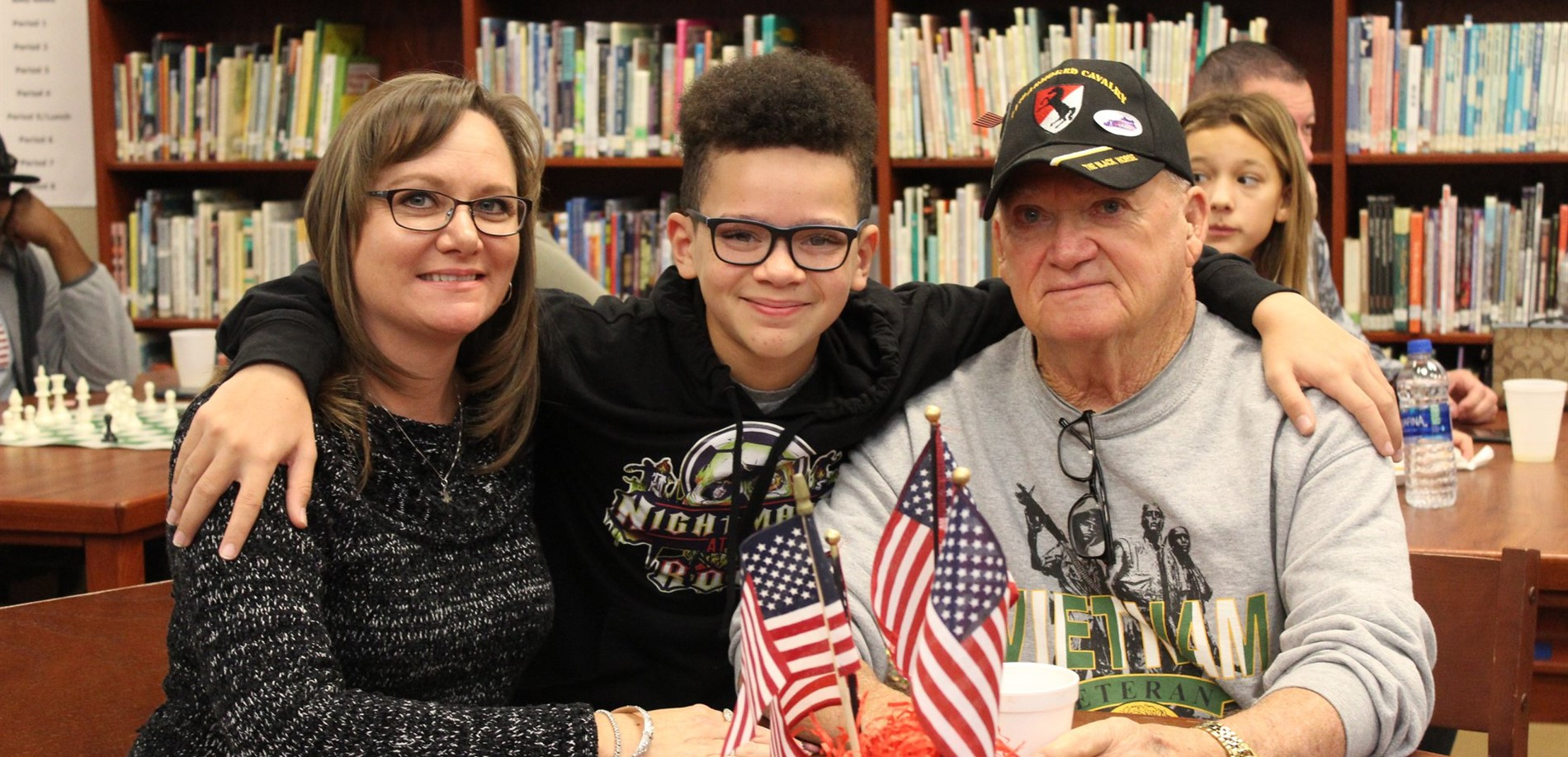 North Middle School welcomed lots of honored guests for the Veterans Day celebration.
