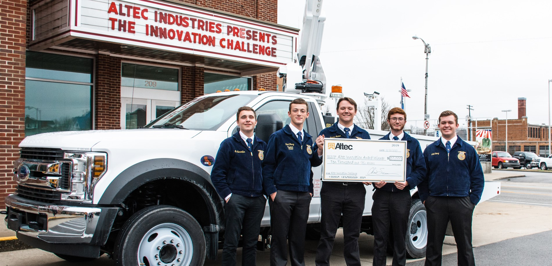 The Central Hardin FFA program earned first place in the Altec Innovation Challenge.