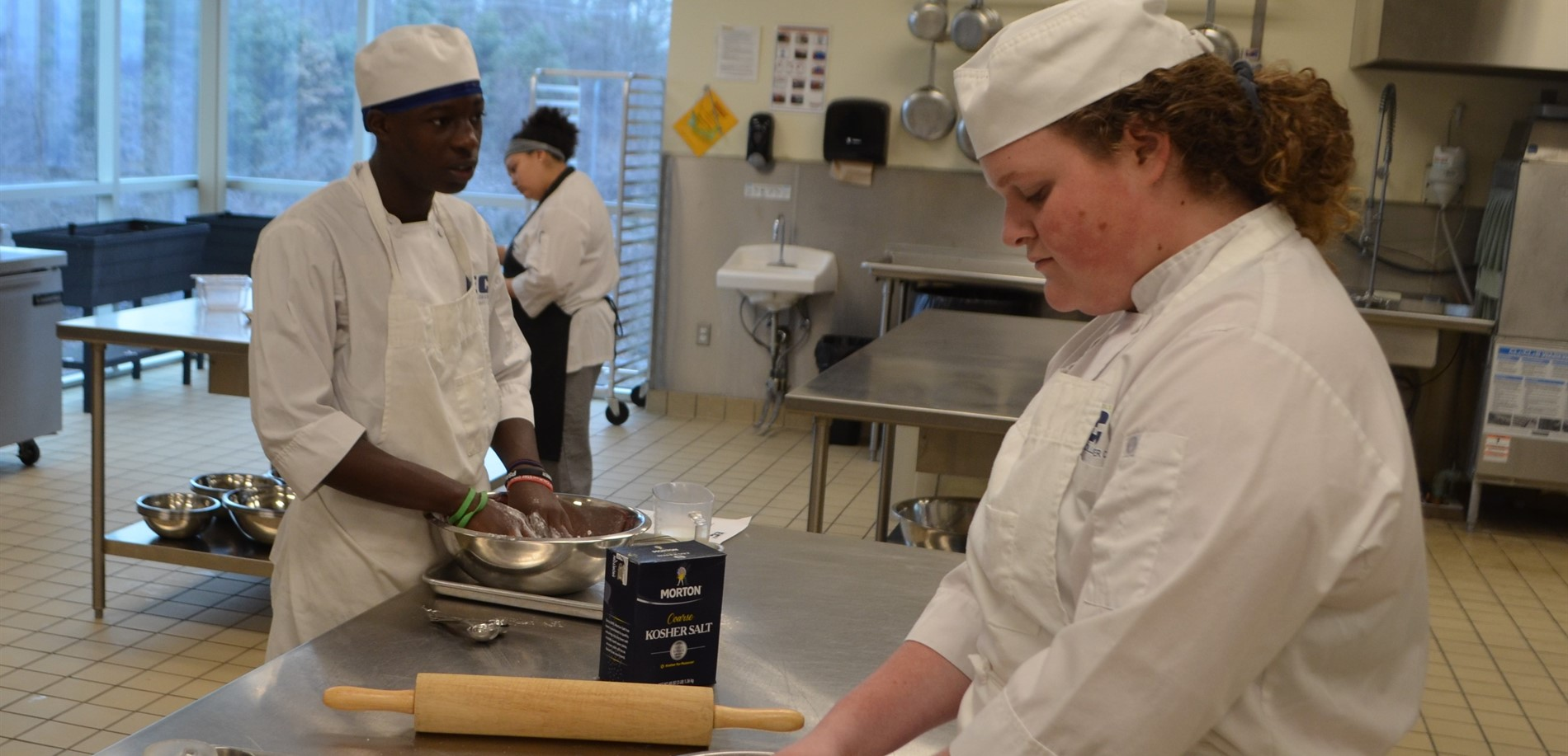 Culinary Arts students prepare a tasty dish at the HCS Early College & Career Center.