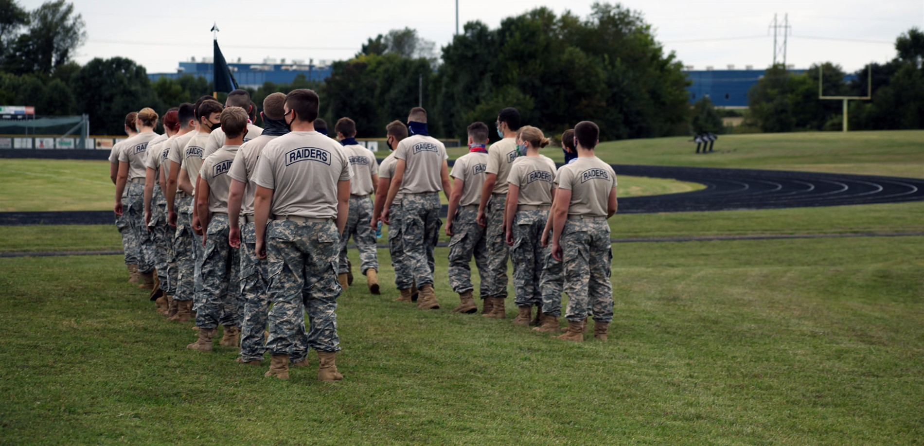 Central Hardin High School JROTC cadets prepare for their next event at the Hardin County Raider Cup competition.