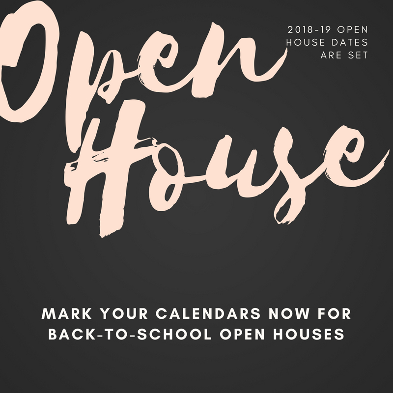 open house graphic 2018-19 school year