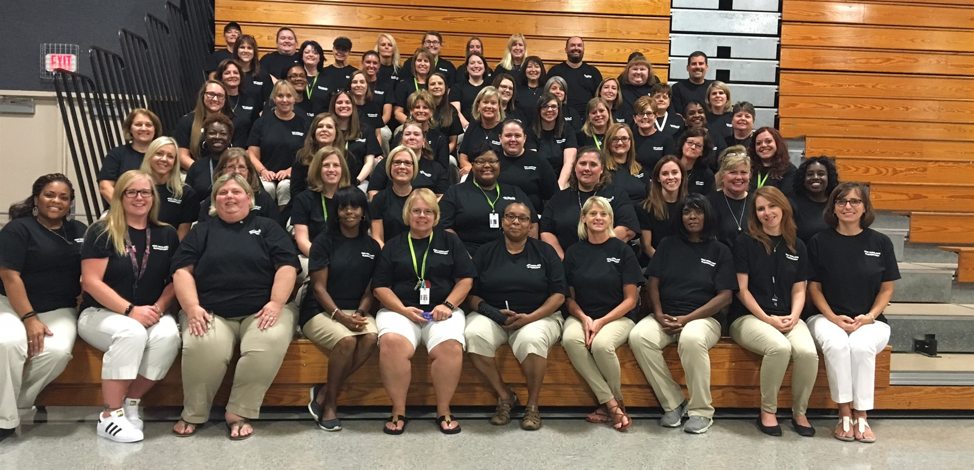 New Highland faculty and staff on the first day of school.
