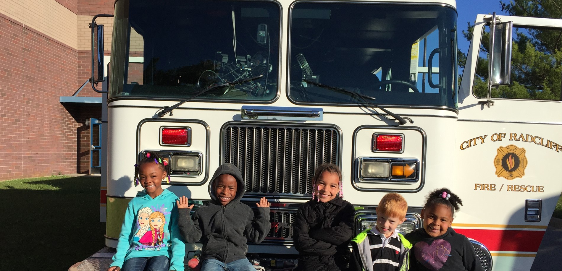 RES first grade students learn about fire safety.