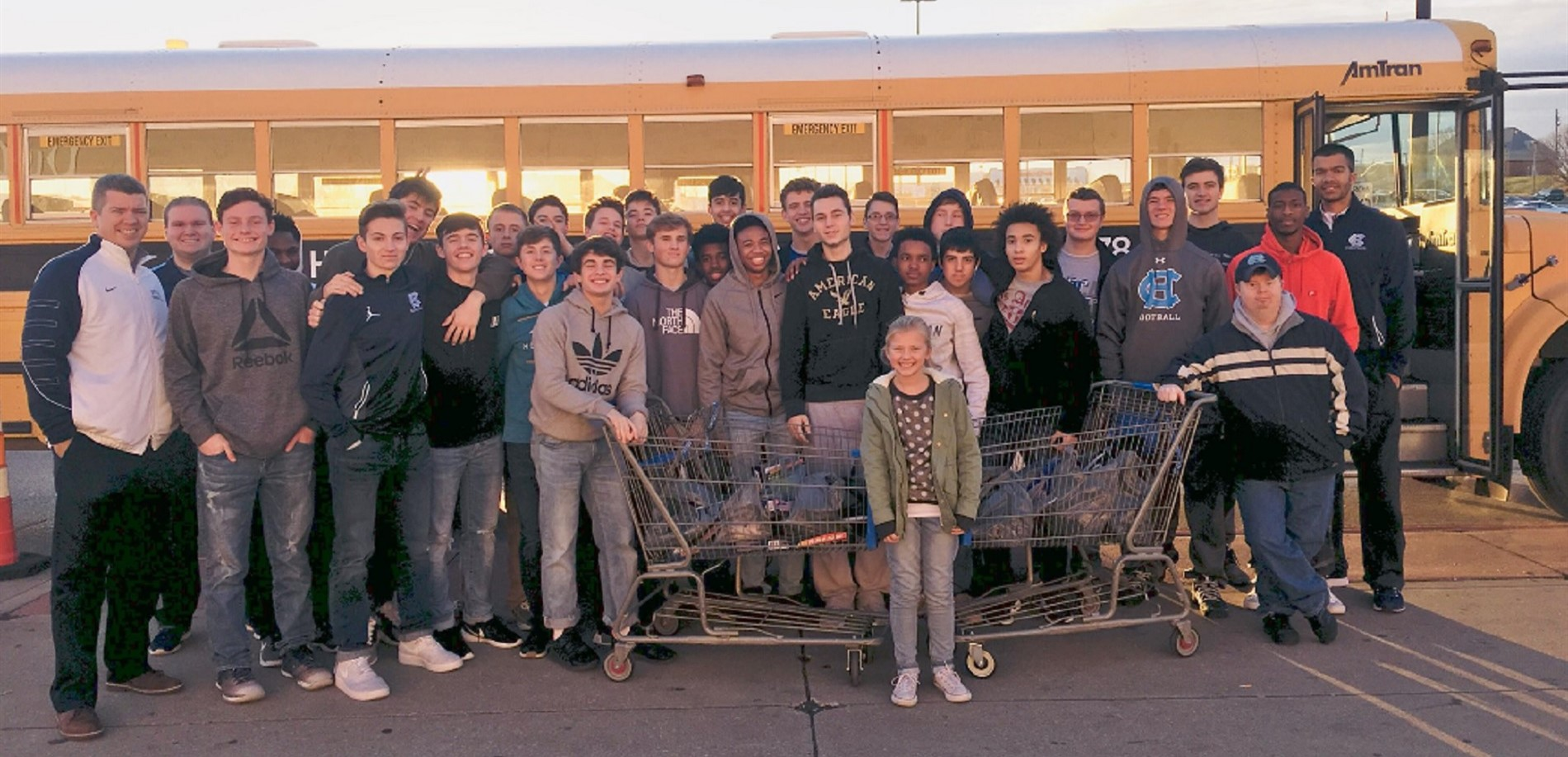 The Central Hardin High School boys basketball team shopped for things to make winter break more enjoyable for other students.