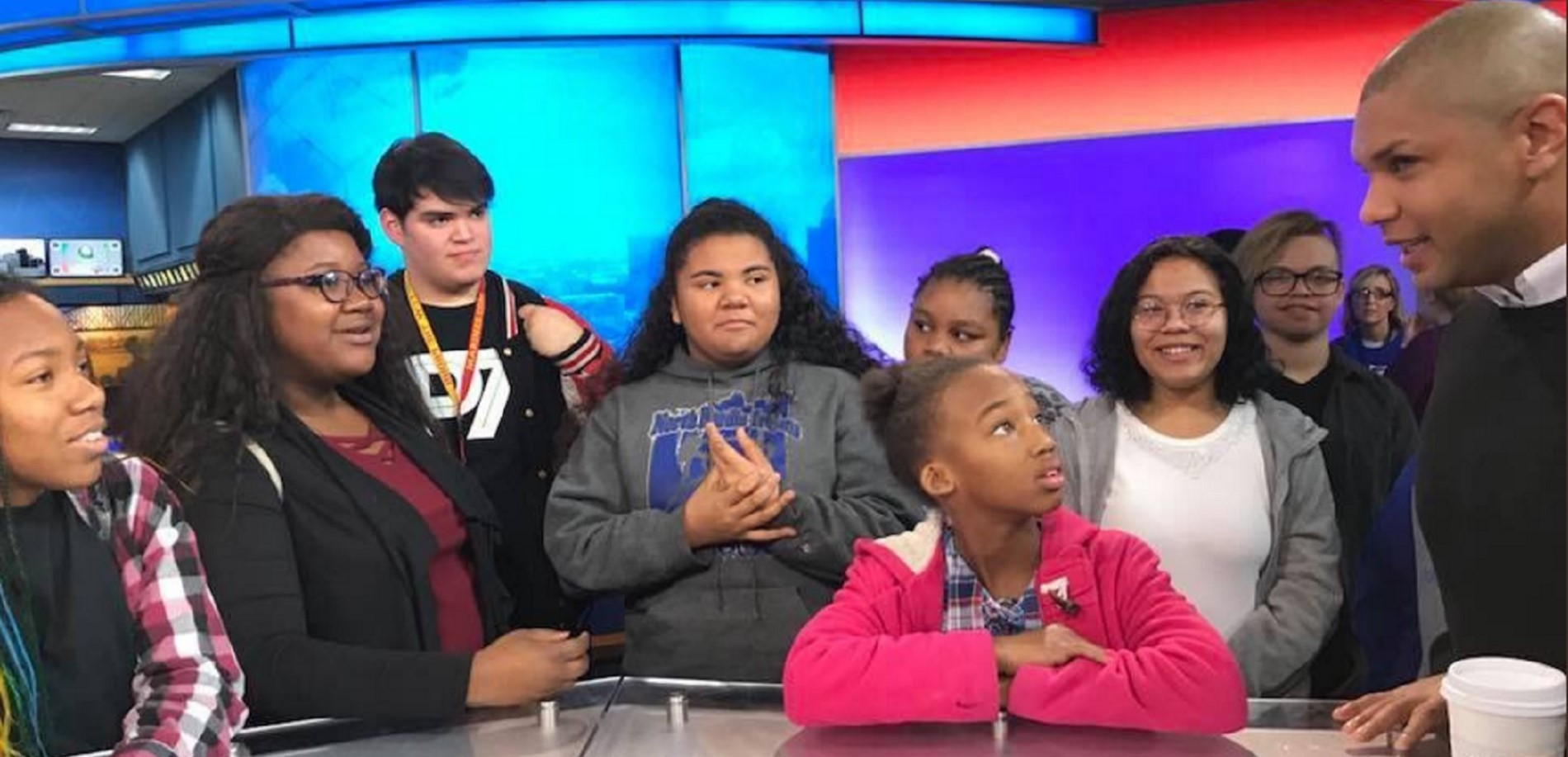 North Hardin High School and North Middle School students recently toured the studios at WLKY-TV.