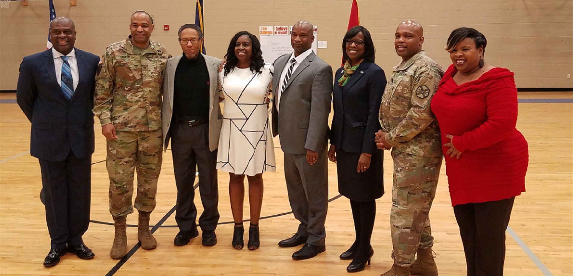 North Middle School gathered community leaders, including Lt. Gov. Jenean Hampton, to discuss leadership for its Black History Month celebration.