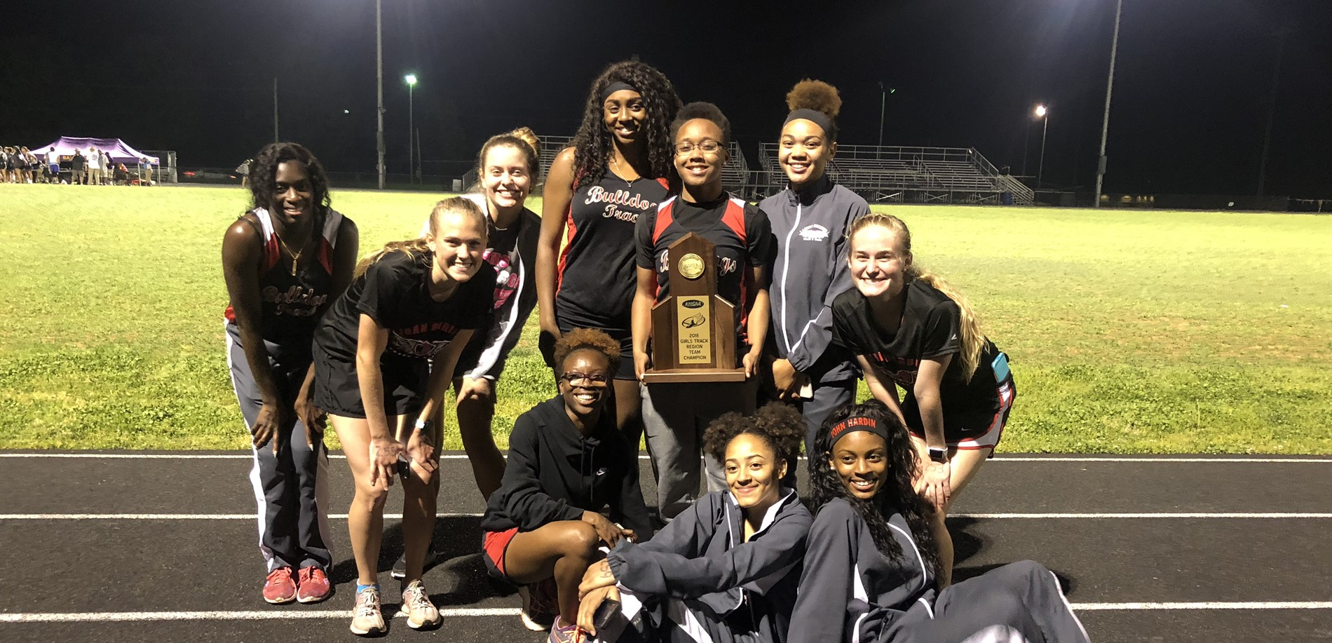Region Champs - JHHS Girls Track Team