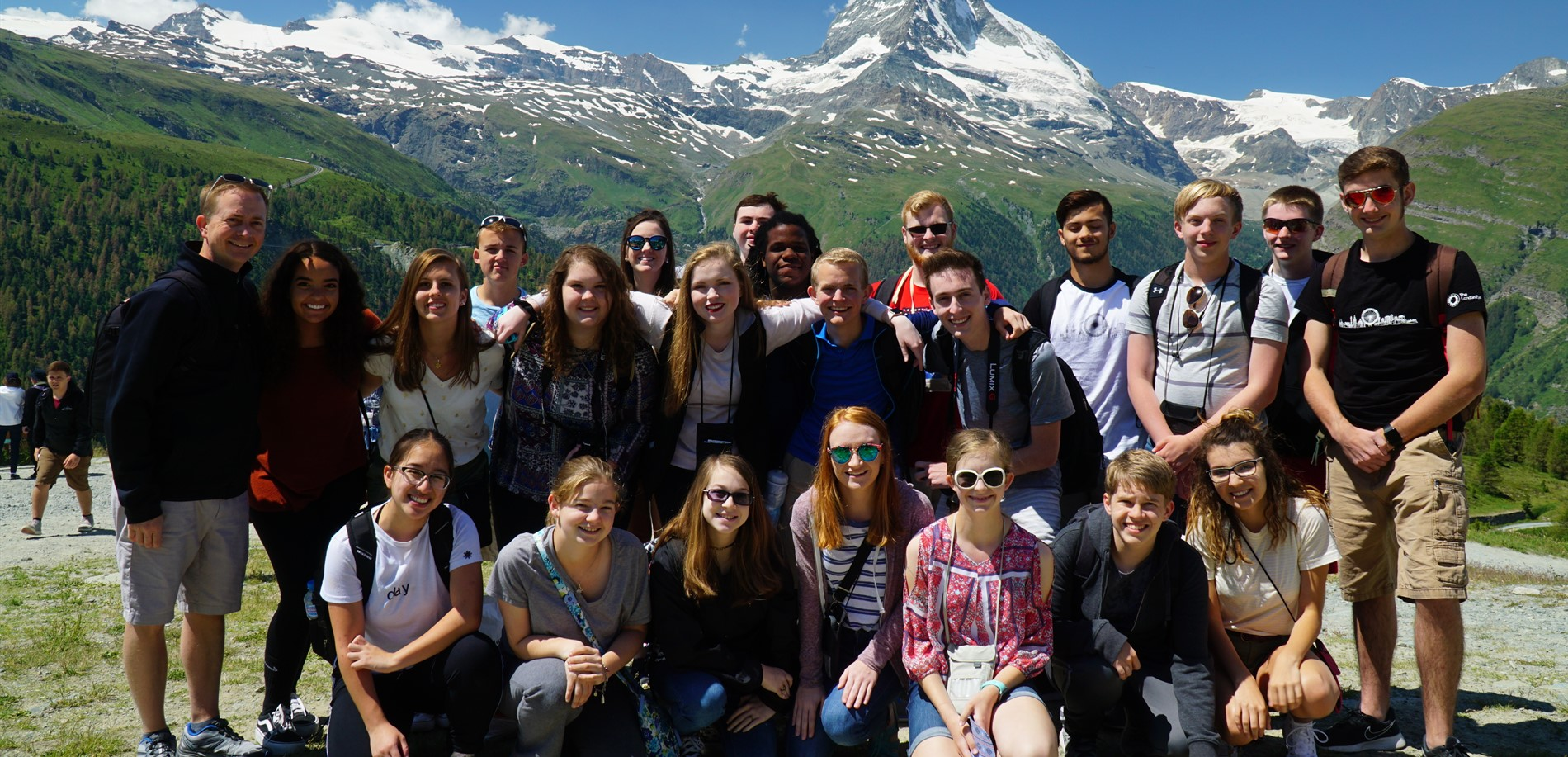 CHHS Band Students in Switzerland for the 2018 KY Ambassadors of Music European Tour