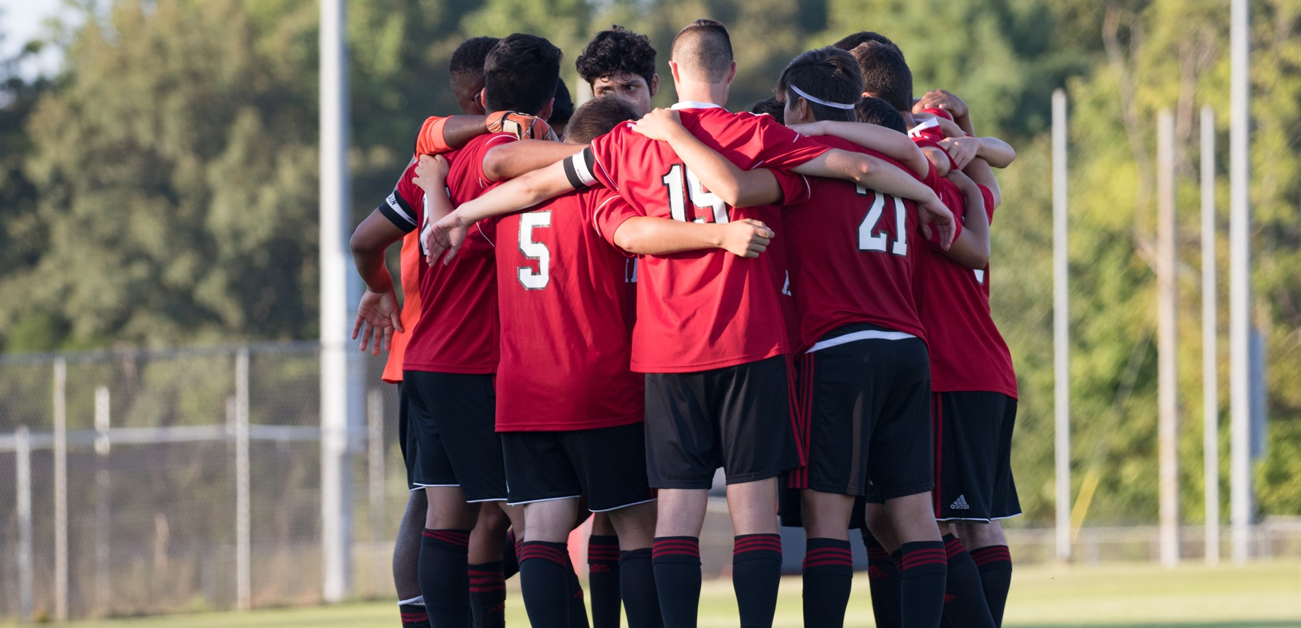 JHHS Boys Soccer Huddle