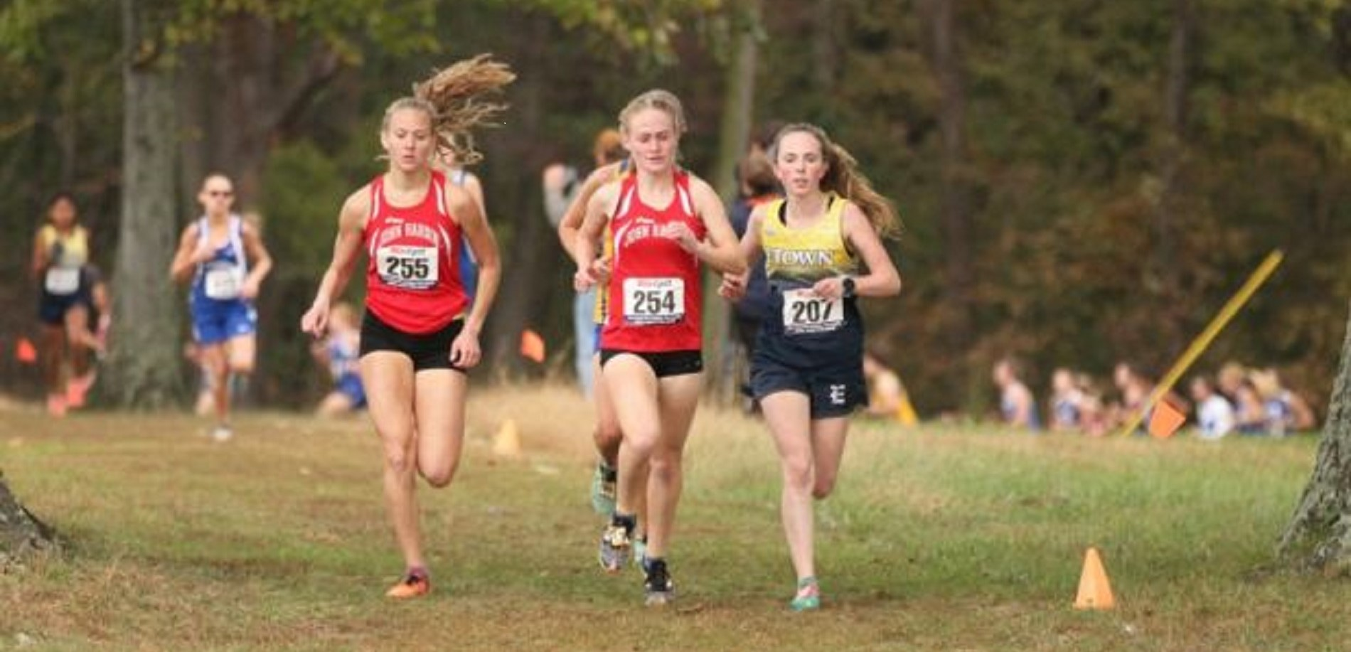 JHHS Girls XC runners - Savannah Hossfeld & Jenna Grogan