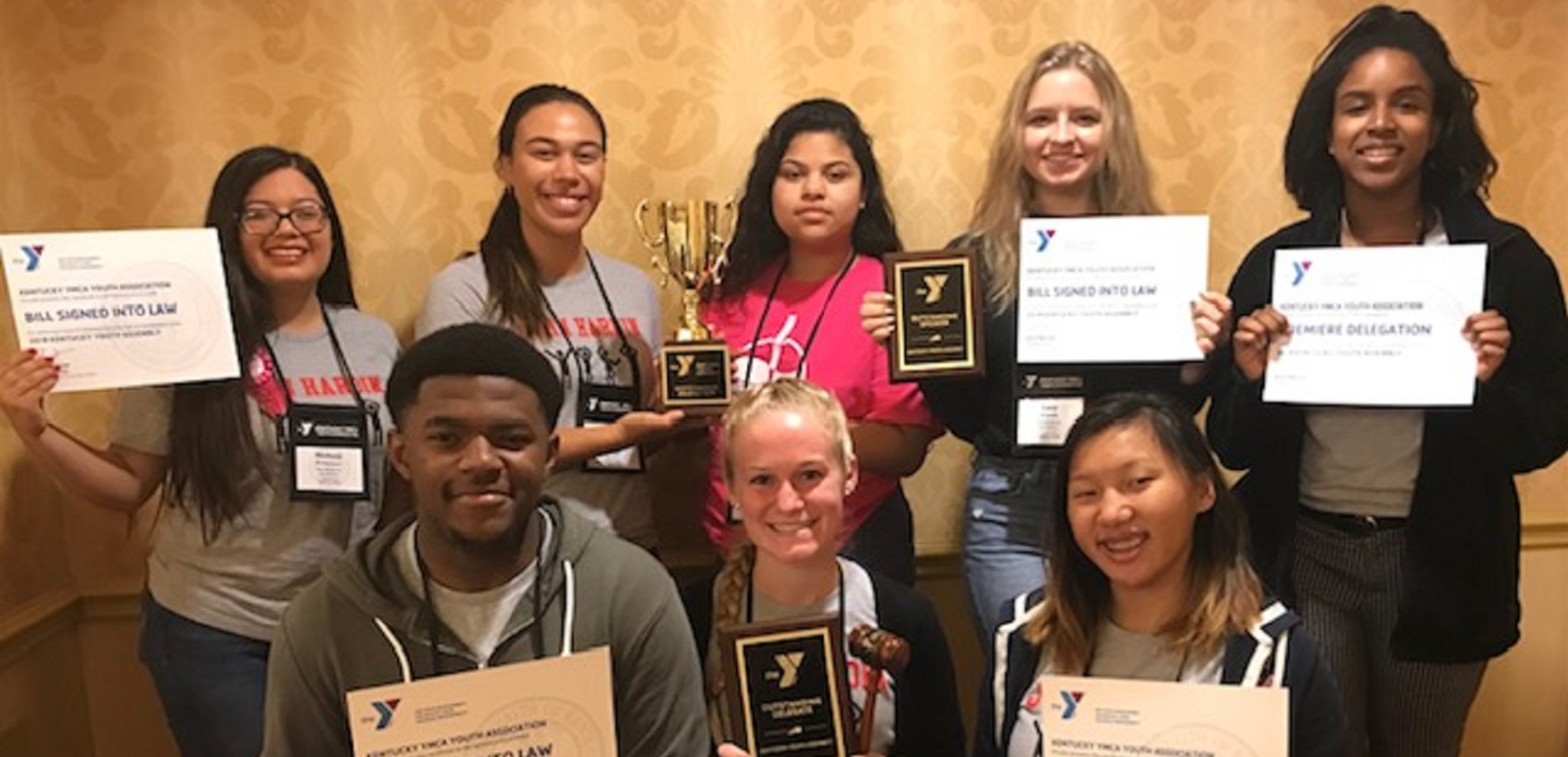 The John Hardin High School KYA Delegation earned the top award at this year's conference - BEST DELEGATION!