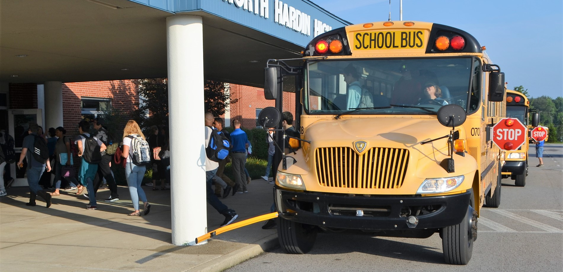 HCS buses bring North Hardin High School students to school.