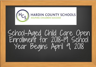 SCHOOL-AGED CHILD CARE OPEN ENROLLMENT linked image
